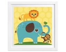 138 Animal Wall Art - Elephant Lion Monkey and Bird Wall Art - Lion Print - Monkey Art - Elephant Print - Zoo Wall Art - Jungle Nursery Art