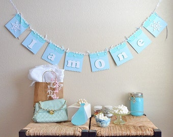 Frosted Banner, Aqua Banner, I am One, Snowflake Banner, Princess Banner