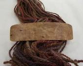 Medium Wooden Barrette, birdseye maple, lifetime guarantee, NO GLUE, long thick hair, french barrette, natural hair accessory
