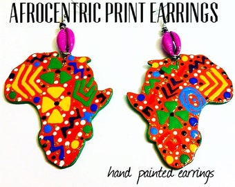Afrocentric Print Earrings