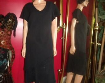 Vintage Dress Flapper G.Gatsby Fringes does 20-30s Theme Size 16