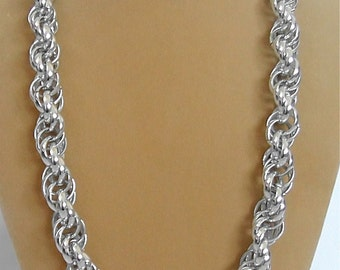 Vintage Chunky Silver Chain