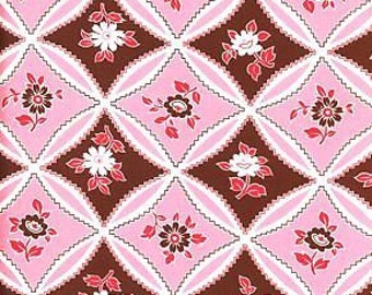 Jennifer Paganelli//OOP//Sis Boom//Bellbottoms//Mary Trellis Pink//JP10//100% Quilters Cotton by the Yards, Half Yards, Fat Quarters