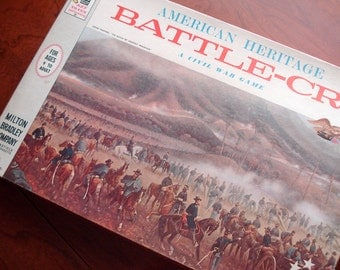 Battle-Cry - Vintage board game - American Heritage Civil War game - 1962 - excellent condition