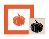 Halloween Pumpkin Rubber Stamp