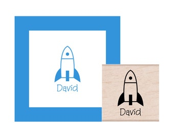Rocket Personalized Rubber Stamp