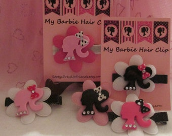 NEW~ My Barbie Hair Clips - 5 color combos to choice from