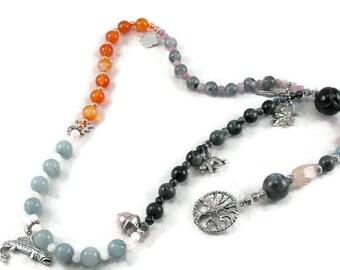 Druid Revival 4 seasons rosary meditation beads