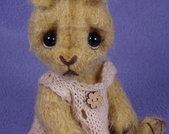 One of A Kind Artist bunny,  Collectable Mohair Artist Bear, by Valewood Bears