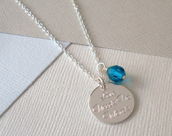 Personalised 'Your Words' Necklace - Large