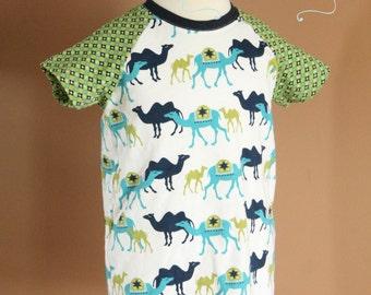 Boys' Colorblocked Raglan Tee - Size 6 - Ready to Ship - Birch Organics Fabrics