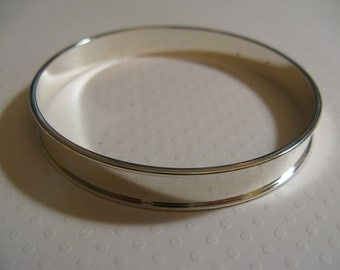"Shiny Silver Plate by Nunn Design Channel Bangle blank, - 9.63MM(0.38"") wide channel x 8.5"" around"