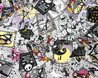 Disney Licensed fabric Nightmare before christmas fabric  50 cm by 106 cm or 19.6 by 42 inches  Half Meter Made in Japan