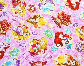 Disney Fabric Disney Princess fabric 50 cm by 106 cm or 19.6 by 42 inches Half meter