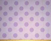 Two (2) Yards -Medium Dots Cotton Fabric by Riley Blake Fabrics C430-120 Lavender