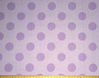 Two (2) Yards -Medium Dots Cotton Fabric by Riley Blake Fabrics C430-120 Lavender