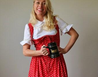 1970s German Dirndl Dress >>> Size Small