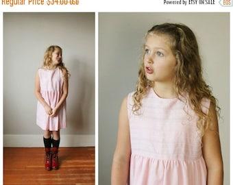ON SALE 1960s Pink Babydoll Dress~Size 8/10