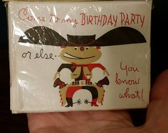 Cowboy birthday invites - Free US shipping