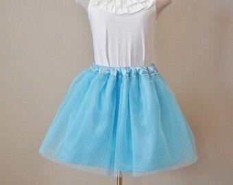 Child Tulle satin skirt, flower girl tulle skirt.  Ready to ship 2-3 & 4-5.