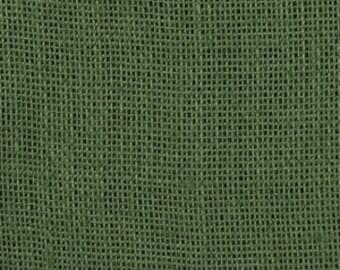 Clearance 1 Yard 50% off as marked BURLAP PINEY WOODS Primitive Christmas Hunter Khaki Green color Shalimar burlap Fabric