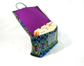 Coupon Organizer, Coupon Holder, Coupon Wallet, Coupon Binder, Purse Accessory, coupon caddy Oasis Fabric