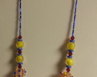 154 Funky Lampwork Necklace
