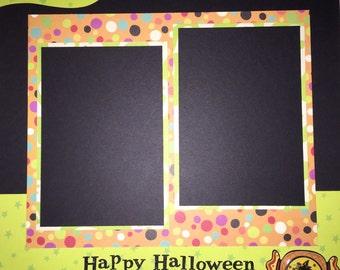 HAPPY HALLOWEEN 12 x 12 premade scrapbook layout - Halloween Boy Girl