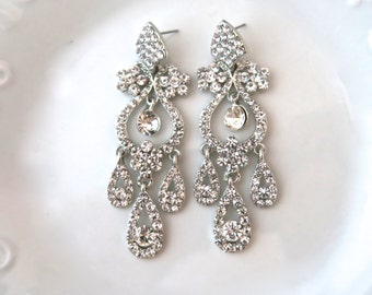 Wedding Chandelier Earrings Crystal Chandelier Earrings Bridal Statement Earrings Wedding Jewelry