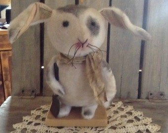 Primitive Grungy Bunny Rabbit Easter  Doll