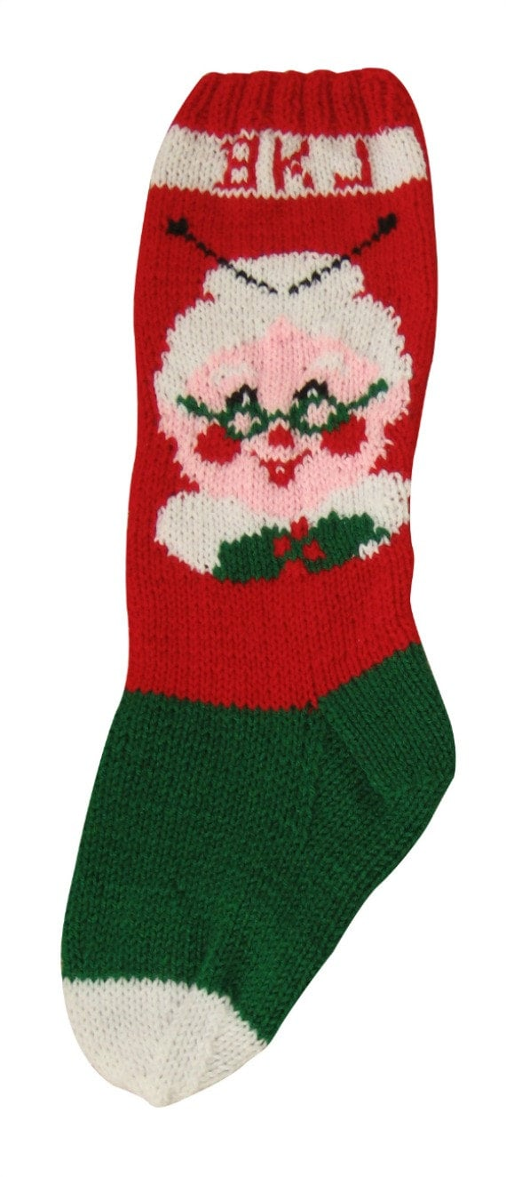 Mrs Claus Knitting Pattern Christmas Stocking Christmas