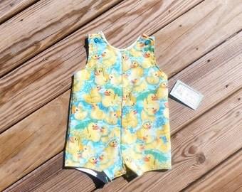 Boys Jon Jons - Boys Rubber Duck Outfit - Boys Spring Clothing -  Shortall - Boys 1st Birthday Outfit - Groovy Gurlz