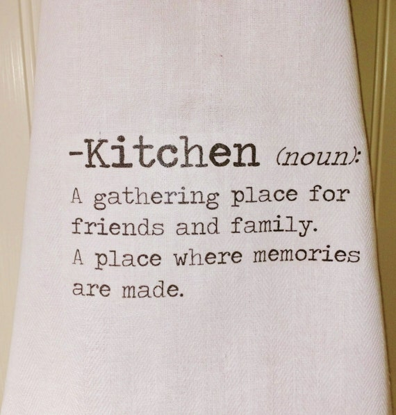 Items Similar To Kitchen Dictionary Definition Tea Towel