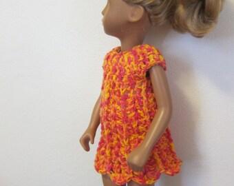 Coral Dress For Sasha with Slip