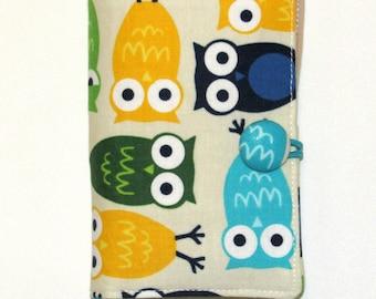 Tea Bag Wallet, Tea Bag Holder, Tea Bag Case, Tea Wallet, Tea Bag organizer Travel Case Owls