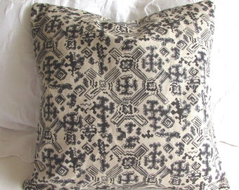 Nomad Black fabric decorative Pillow Cover 18x18 20x20 22x22 24x24 26x26