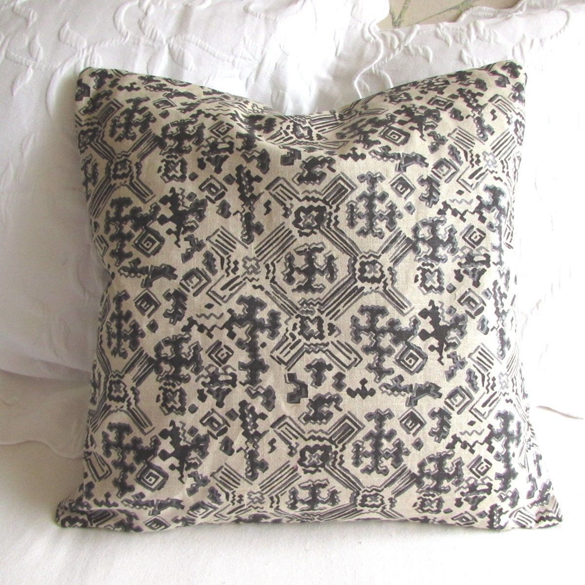 22x22 Decorative Pillows : Nomad Black fabric decorative Pillow Cover 18x18 20x20 22x22