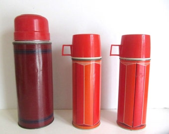 Vintage 1960s Thermos Containers - Set of Three