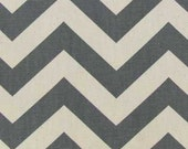 """Gray & Off-White Chevron Striped VALANCE or PANEL ~ 12"""", 14"""", 16"""", 22"""", 26"""", 30"""" Lined or Unlined ~ You Choose"""