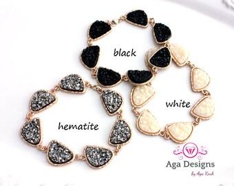 SALE only today ~ Druzy bracelet - pick your color