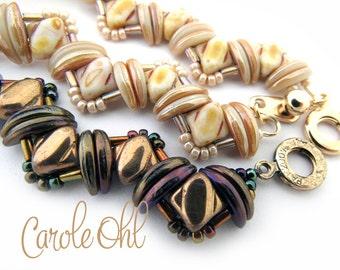 Bundled Silk Bracelet Tutorial by Carole Ohl