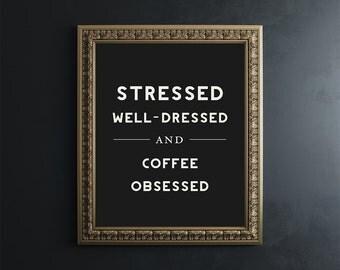 Humor Typography Print // coffee quote // funny quote // quote print // humor print // wall art // wall decor // minimalist // home decor