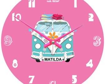 Personalised Camper van wall clock