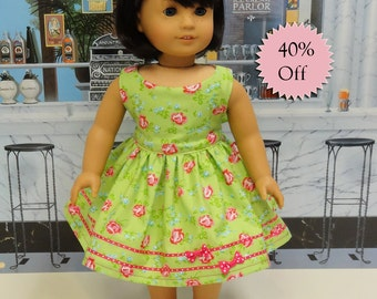 Sugar Roses - vintage style dress for American Girl doll **Sale**