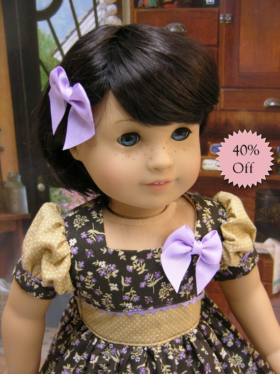 Field of Violets - vintage style dress for American Girl doll **Sale**