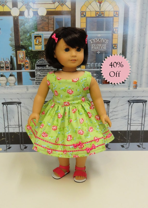Sugar Roses Vintage Style Dress For American Girl Doll-4742