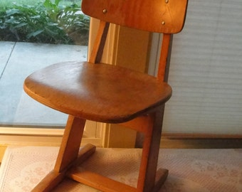 Vintage Casala childs chair Beechwood chair from 1960s