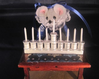 Mouse with a Menorah for Hanukkah