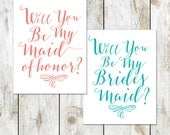 Will you be my Bridesmaid - Will you be my Maid of Honor - Will you be my Matron of Honor - Custom Color Bridal Cards