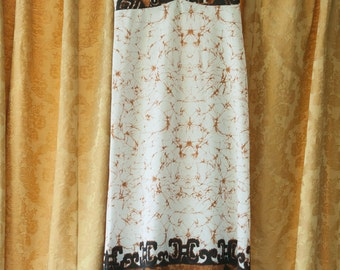 Vintage Gown - Maxi Mod Floral Brown Hawaii Hawaiian